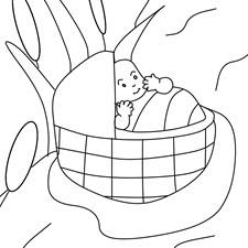 דף צביעה לפורים ילדים מחופשים