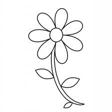 דף צביעה פרח