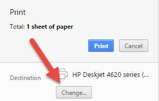 הדפסה במדפסת