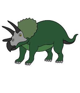 משחק צביעה במחשב דינוזאורים