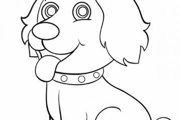 כלב טקסט לצביעה